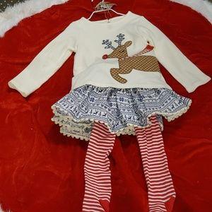 Reindeer Skirt Set